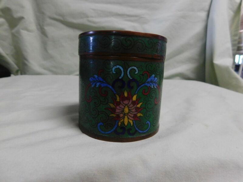 Antique  Cossinne Green Base Jar