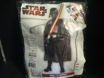 Darth Vader Star Wars Costume Medium 8-10 Cosplay Rubies Deluxe  4-pieces Mask - Darth Vader Costume Pieces