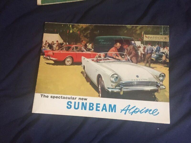 1960s Rootes Sunbeam Alpine USA Market Color Brochure Prospekt