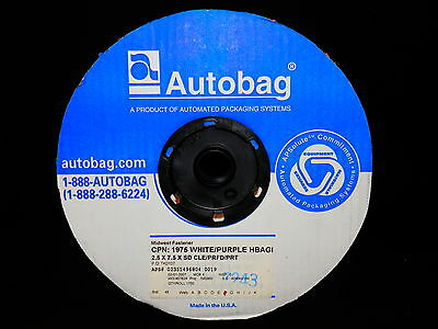Autobag Roll Of 1750 Auto Bags Poly Bags Clearpurple 2.5 X 7.5 - Free Shipping