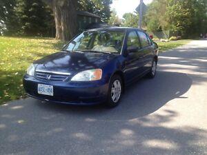CERTIFIED 149k 2002 Honda Civic, Remote Start, Sony CD/Aux/USB