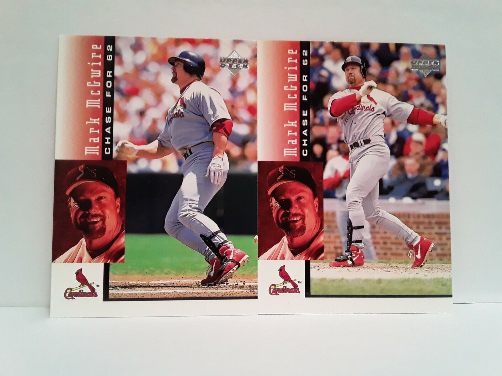 MARK MCGWIRE 1998 Upper Deck Chase For 62 3 And 6 - $3.99