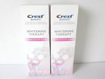 2 CREST 3D WHITE WHITENING THERAPY SENSITIVITY CARE TOOTHPASTE ~ EXP (Crest 3d White Whitening Therapy Sensitivity Care Toothpaste)