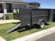 8x5 Gardening Trailer H/Duty with Mower Box with side tool box Beveridge Mitchell Area Preview