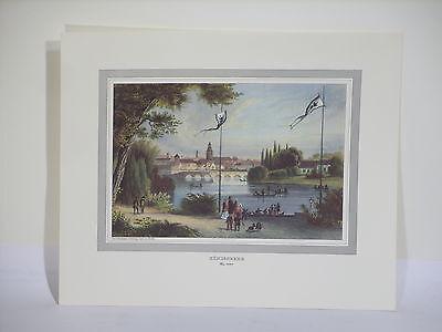Königsberg Ostpreußen Blick auf die Stadt 1845 Stahlstich Reproduktion