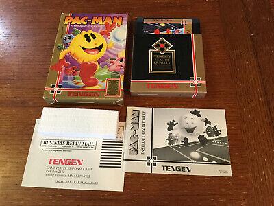 PAC-MAN Tengen Nintendo NES Complete CIB Good Condition Authentic