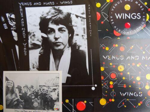Paul McCartney and Wings VENUS AND MARS US PROMO PRESS KIT