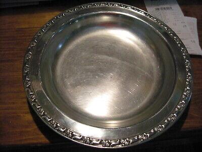 Vintage Oneida Silversmiths Silverplate Silver Plate Ornate Round Trivet 8-12