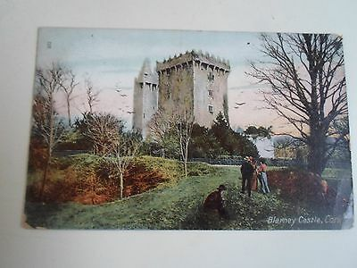 Vintage Colour Postcard BLARNEY CASTLE, Cork Franked & Stamped 1906