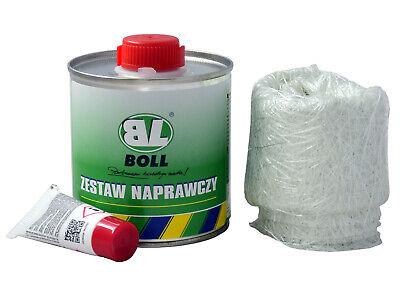 NEU BOLL REPARATUR SET GFK BOX Polyesterharz 250gr + GLASFASERMATTE + HÄRTER Box Polyester