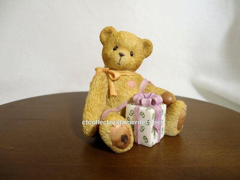 Cherished Teddies Birthday Bear Age 9  1998  Used No Box