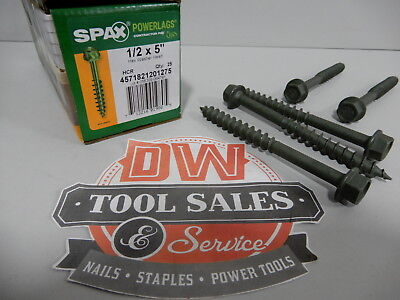 Spax Screws Made In Usa 12 X 5 Hex Washer Head Powerlags Exterior