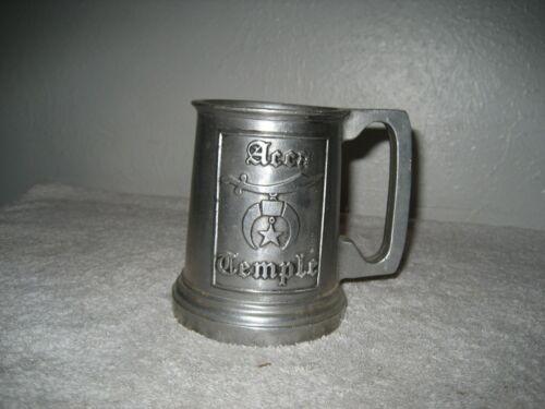 Vintage Freemason Masonic Acca Temple Pewter Beer Stein Mug rare