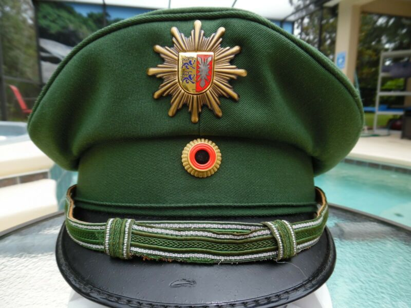 Vintage German Police Polizei Dress Hat - Great Condition - Size 56
