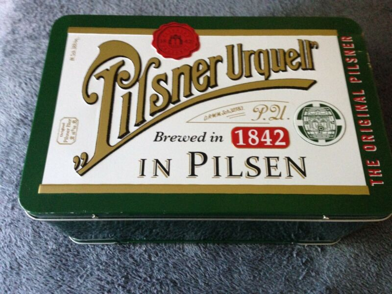 Pilsner Urquell Oversized Lunchbox GREEN Embossed Beer Brewery