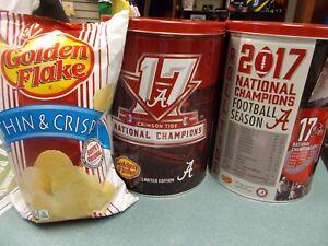 Alabama 2017 National Champs Golden Flake Can & Chips ROLL TIDE Crimson
