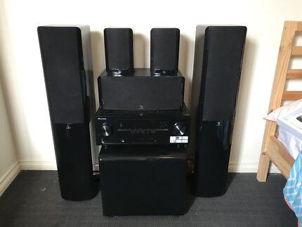 Boston Acoustics Surround Sound Speaker System & Pioneer AV Receiver