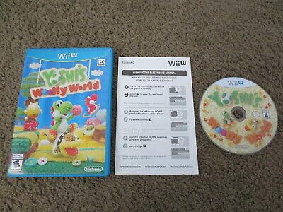 Yoshi's Woolly World Nintendo Wii U COMPLETE Game+Case+Electronic Manual
