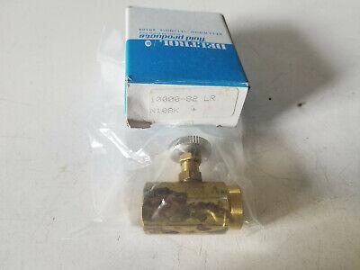 New Deltrol 18 Npt Brass Needle Flow Control Valve N10bk 10000-82