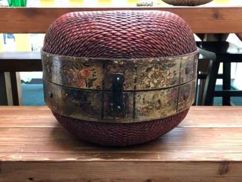 """Vintage Asian Basket 12.5"""" x 16"""""""