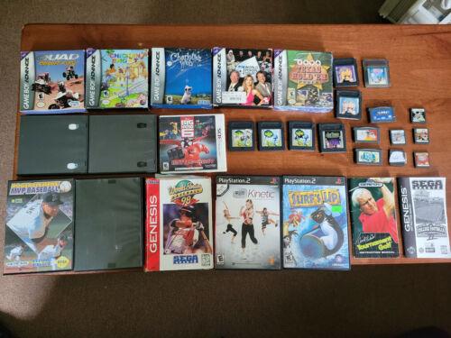 """Lot of 30 Various """"Junk"""" Video games / Boxes / Manuals - Nintendo - Sega - Ps2"""