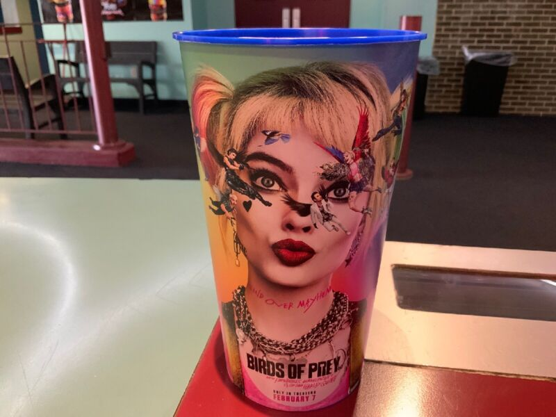 Birds Of Prey Emancipation Harley Quinn 44oz Plastic Movie Theater Cup New!