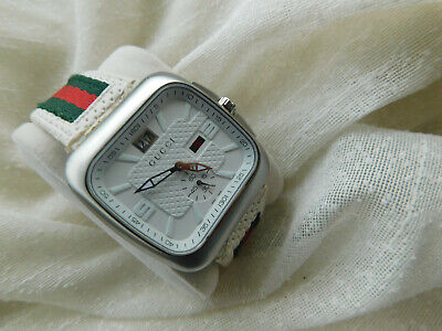 AUTHENTIC MEN/S LUXURY GUCCI WATCH. REF : 131.3 (COUPE). MINT DIAL. ALL ORIGINAL
