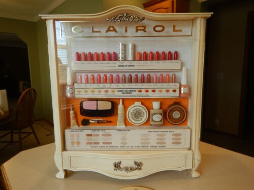 VINTAGE RARE CLAIROL DEPARTMENT STORE MAKE UP ADVERTISEMENT CABINET