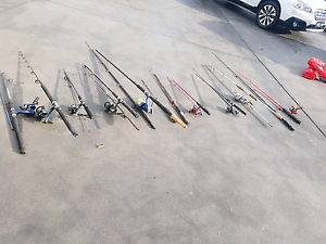 13 fishing rods and reels Ulverstone Central Coast Preview