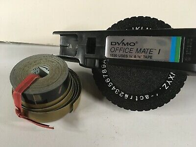 Dymo Officemate I Label Printer 1530 Office Supply 14 And 38 Tape Extra Tape