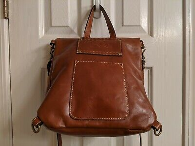 NWT PATRICIA NASH LUZILLE Heritage Tan LEATHER Convertible BACKPACK - FREE SHIP!