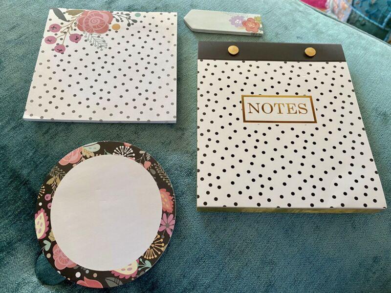 4 pc Floral Notepad Set