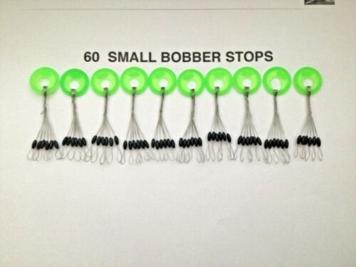 SIZE SMALL BOBBER STOPPERS ( BLACK 60 PCS 10 RINGS)  stops, running out fast