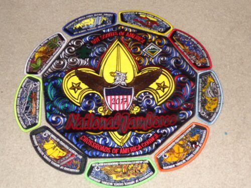 Boy Scout Crossroads America Eagle Venture Council 2017 Jamboree JSP Patch Set