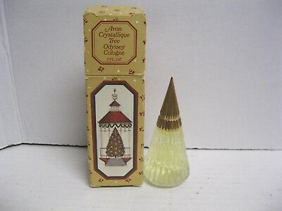 Avon Crystallique Tree Odyssey Cologne .5 fl oz. Full Christmas Tree Bottle