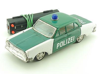 SSS Japan Opel Rekord A Polizei Blechauto Tin Toy Battery 1602-27-31