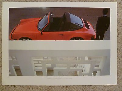 1984 Porsche 911 Targa Showroom Advertising Sales Poster RARE!! Awesome L@@K