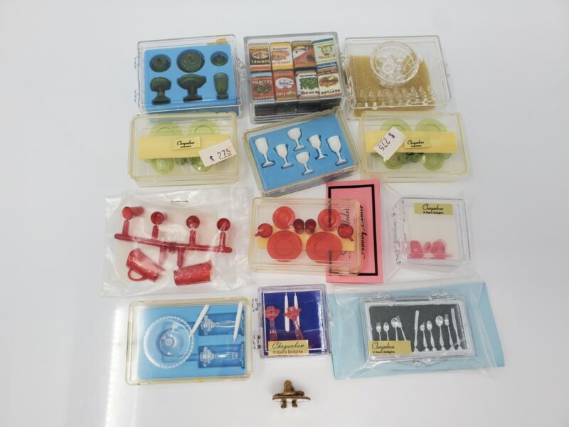 NOS Dollhouse Miniature Lot Chrysnbon, Dishes, Groceries Accessory Collection #2