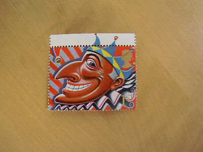 MNH 1st class Greetings stamp Jester/Punch Smiles 1991 GB UK Possible flaw/error