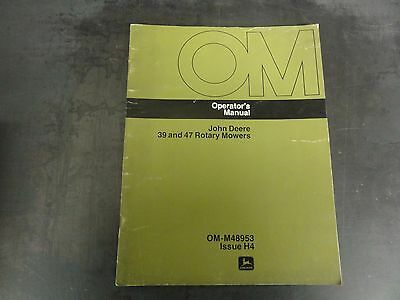 John Deere 39 And 47 Rotary Mowers Operators Manual Om-m48953 Issue H4