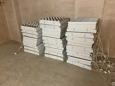 28 X Suspended ceiling grid lighting 60x60cm with tubes (less Than 7 Months Old) for sale  Shipping to South Africa