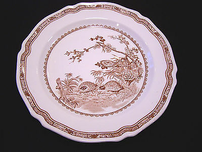 "FURNIVALS 1913 China England QUAIL Brown 10"" DINNER PLATE #684771 *GC* on Rummage"