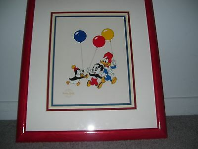 "Woody Woodpecker Serigraph Cel ""Party Pals""  Framed With COA NEW"