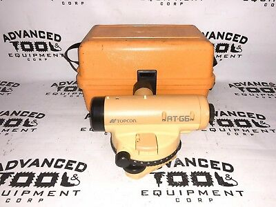 Topcon At-g6 Autolevel Automatic Auto Level Transit W Carrying Case