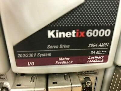 Kinetix 6000 Servo Drive And Motor Unit