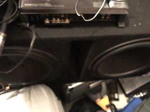 Clarion subwoofers, kenwood amp and all cords