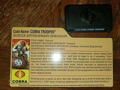 25th Anniversary GI JOE FILE CARD Desert Assault Cobra Trooper Hostile Environme