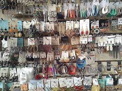 Job Lot 50 Pcs Costume Jewellery NEW Earrings Bracelets Girls Womens Accessories