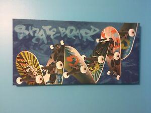 Cadre skateboard décoration