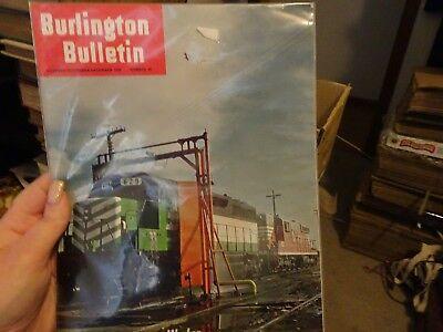 BURLINGTON BULLETIN #40 New Locomotive Washer 1968